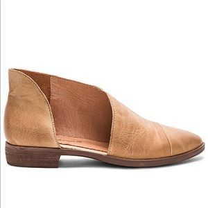 Free People Royale Flat Brown Leather 37.5/7.5